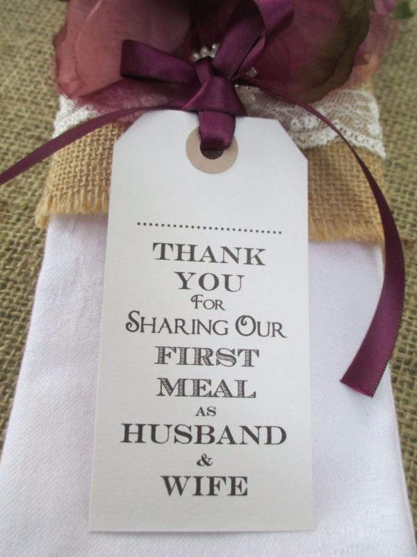 10 Husband Amp Wife Thank You For Sharing Name Place Cards